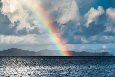 Rainbow Shining over the British Virgin Islands