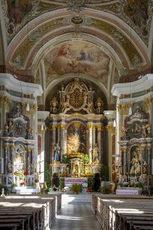 Interior of Sant Jakob Church San Pietro, Trentino-Alto-Adige, Italy