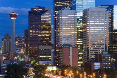 City at Dusk, Calgary, Alberta, Canada