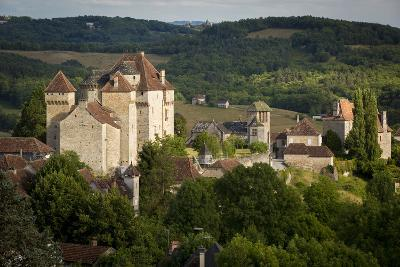 Sunset over Medieval Town of Curemont, Limousin, Correze, France