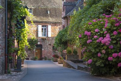 Street Scene in Town of Collonges-La-Rouge, Limousin, Correze, France
