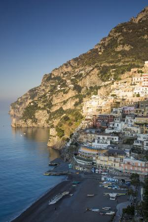 Morning on the Mountains Above Positano, Amalfi Coast, Campania, Italy
