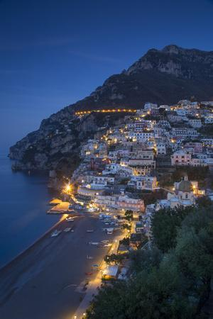 The Amalfi Coast of the Hillside Town of Positano, Campania, Italy