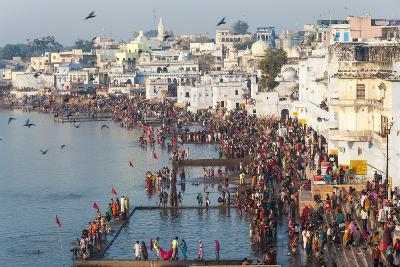 Pilgrims on their Way to Holy Pushkar Lake, Pushkar, Rajasthan, India