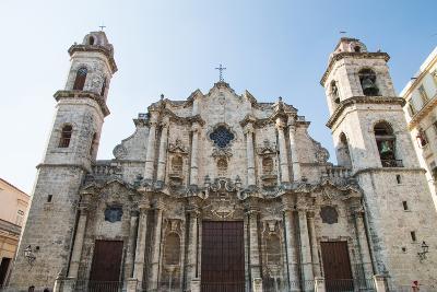 Cuba, Havana. Plaza de La Catedral, Cathedral San Cristobal
