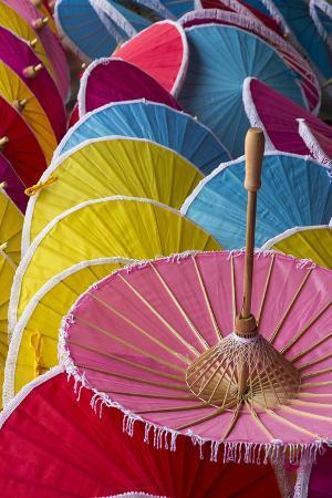 Thailand, Chiang Mai Province, Bo Sang. Umbrella Factory