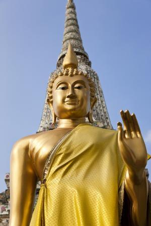 Buddha Statue, Temple of the Dawn (Wat Arun) in Bangkok Thailand