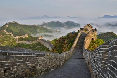 Great Wall of China on a Foggy Morning. Jinshanling, China