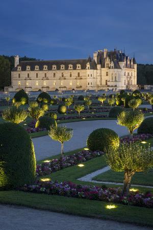 Garden of Diane de Poitiers and Chateau Chenonceau, Centre France