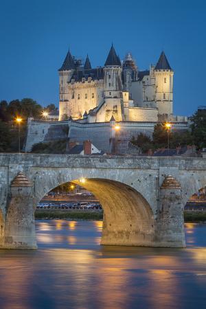 Twilight over the City of Maine-Et-Loire, Centre, France