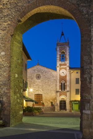 Chiesa San Francesco, San Quirico d'Orcia, Tuscany, Italy