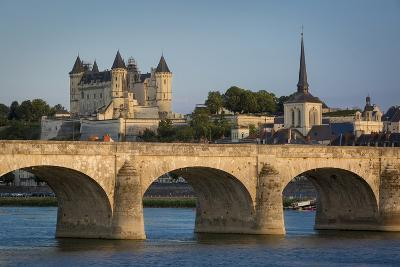 Chateau Saumur Along River Loire, Maine-Et-Loire, Centre, France