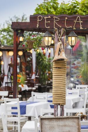 Bulgaria, Black Sea Coast, Nesebar, Outdoor Restaurant Patio