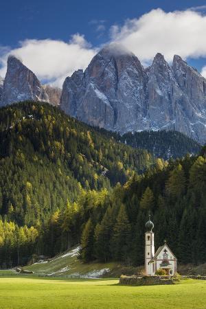 Saint Johann Church, Val di Funes, Trentino-Alto-Adige, Italy