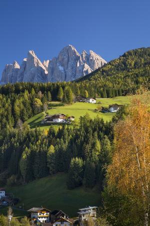 Geisler Spitzen, San Pietro, Val di Funes, Trentino-Alto-Adige, Italy