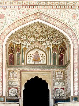 Architectural Detail. Amber Fort. Jaipur. Rajasthan. India