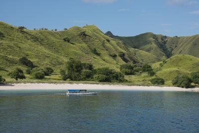 Indonesia, Komodo Island. Komodo NP. Pink Beach Cove, Savu Sea