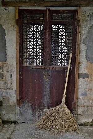 Hongcun Villiage, Doorway with Broom, China, UNESCO