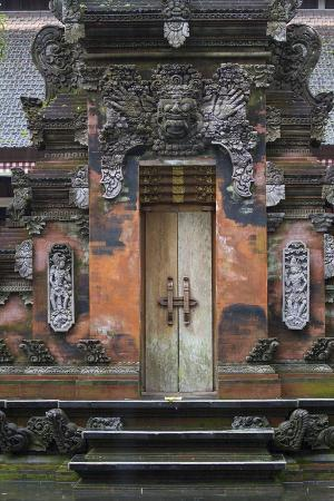 Indonesia, Bali. Hindu Temple Door at Pura Tirta Empul Temple