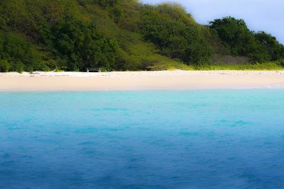 Buck Island, Saint Croix, Us Virgin Islands. Soft Focus of the Beach