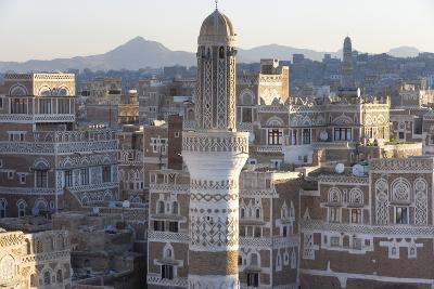 Mosque Tower and Skyline, Sana'a, Yemen