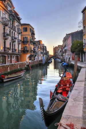 Gondolas Along the Canals of Venice, Italy