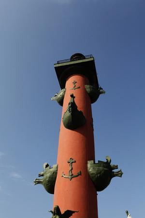 Rostral Columns, Spit of Vasilyevsky Island, St. Petersburg, Russia