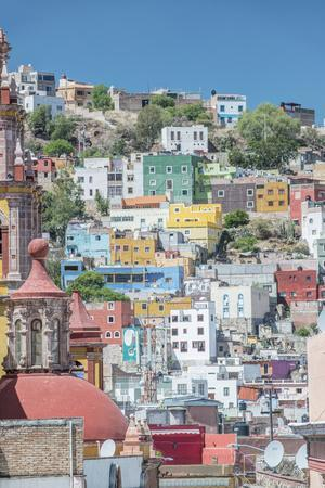 Mexico, Rooftop View of Guanajuato