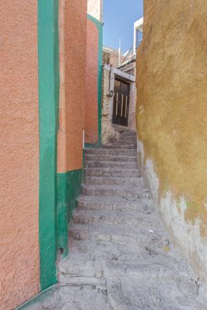 Mexico, Guanajuato, Colorful Alleyway
