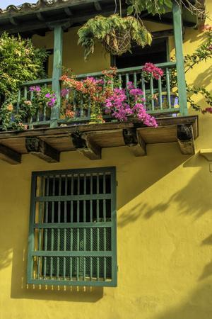 Charming Spanish Colonial Architecture, Old City, Cartagena, Colombia