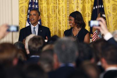 Barack and Michelle Obama Host a Reception to Observe LGBT Pride Month