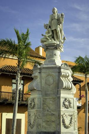 Statue of Christopher Columbus, Old City, Cartagena, Colombia