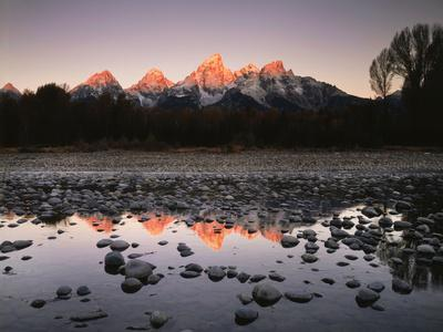 Wyoming, Rocky Mts, the Grand Tetons Reflecting in the Snake River