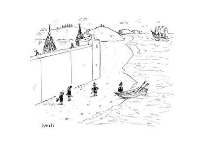 Refugees are denied entry into America - Cartoon