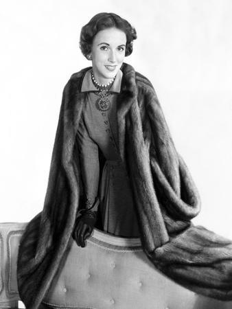 Mrs. Amory S. Carhart Jr. Wearing Mink Coat by Maximilian