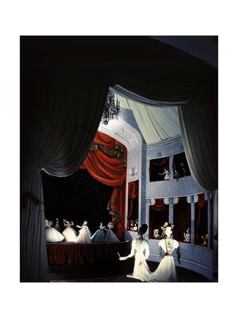 Opera Scene by Christian Berard of the Theatre De La Mode