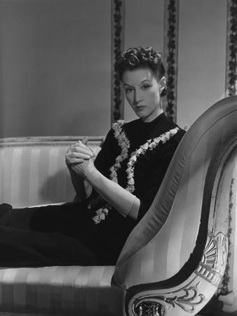 Mrs. Ronald Balcom (Aka Millicent Rogers) on Chaise Lounge