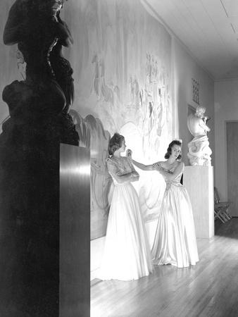 Two Debutantes at the River Club Ballroom (New York)