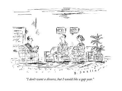 """I don't want a divorce, but I would like a gap year."" - New Yorker Cartoon"