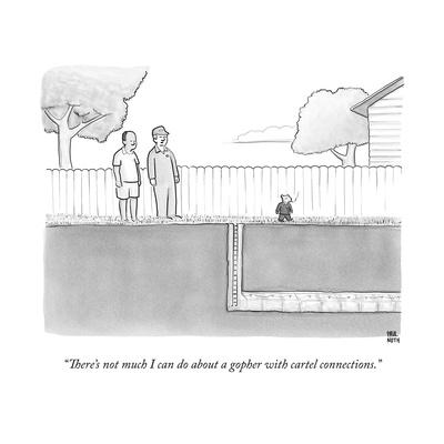 """""""There's not much I can do about a gopher with cartel connections."""" - New Yorker Cartoon"""