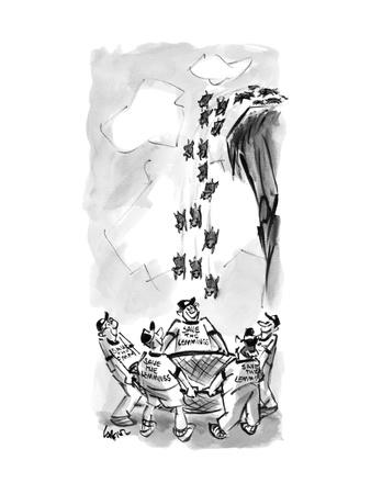 Save the Lemmings - New Yorker Cartoon