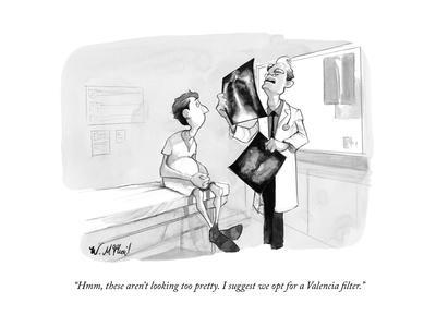 """""""Hmm, these aren't looking too pretty. I suggest we opt for a Valencia fil..."""" - New Yorker Cartoon"""