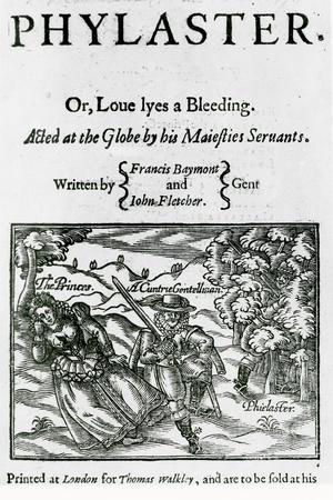 Titlepage of 'Phylaster' by Beaumont and Fletcher, 1620