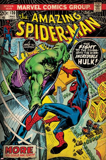 Marvel Comics Retro Style Guide Spider Man Hulk Print At