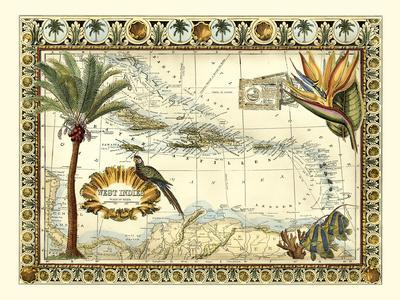 Tropical Map of West Indies