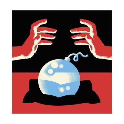 A crystal ball is a bomb - Cartoon