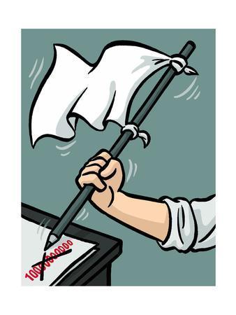 Waving the white flag - New Yorker Cartoon