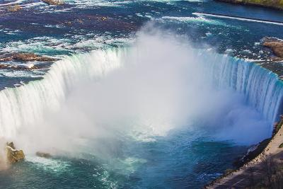 A Scenic Aerial View of Horseshoe Falls