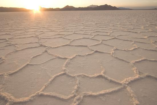 Salt Pans In The Great Salt Lake Desert In Northwestern Utah