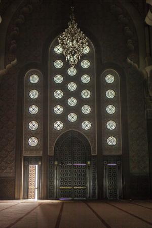 Interior Door and Window at the Hassan Ii Mosque, Casablanca, Morocco